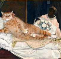 Рыжий кот позирует для мировых шедевров живописи, фото