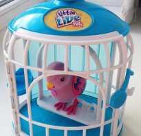 Игрушечный попугай в клетке